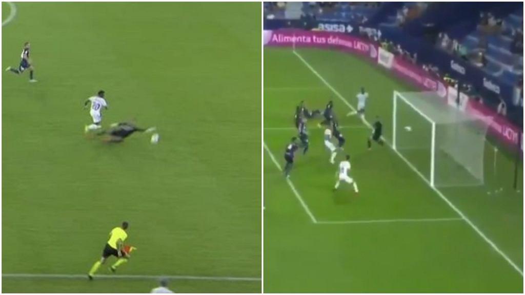 Aitor Fernandez z czerwoną kartką, Vinicius Junior strzela gola na remis dla Realu w meczu z Levante