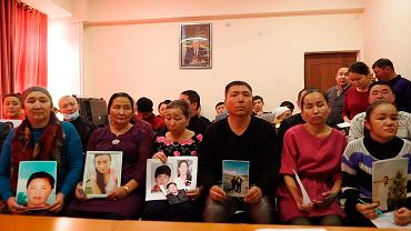 Działająca w Ałmaty grupa wsparcia Kazachów w Sinkiangu, 7 grudnia 2018 r. (zdjęcie z nagrania wideo).