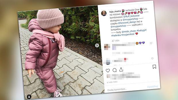 """Olga Frycz ubrała dziecko modnie i drogo, ale dodała""""szaliczek z lumpeksu"""""""