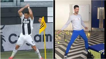 Novak Djoković powtórzył cieszynkę Cristiano Ronaldo