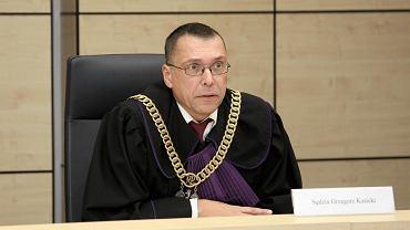 Sędzia Grzegorz Kasicki podczas posiedzenia organizacyjnego przed procesem w sprawie  afery melioracyjnej
