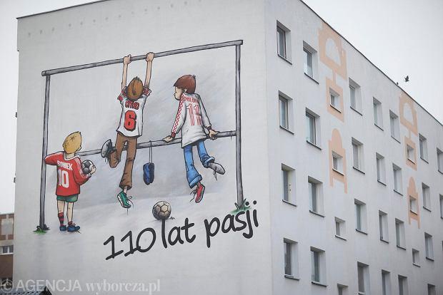 Zdjęcie numer 10 w galerii - Na bloku na łódzkim Radogoszczu powstał niezwykły mural na 110-lecie Widzewa