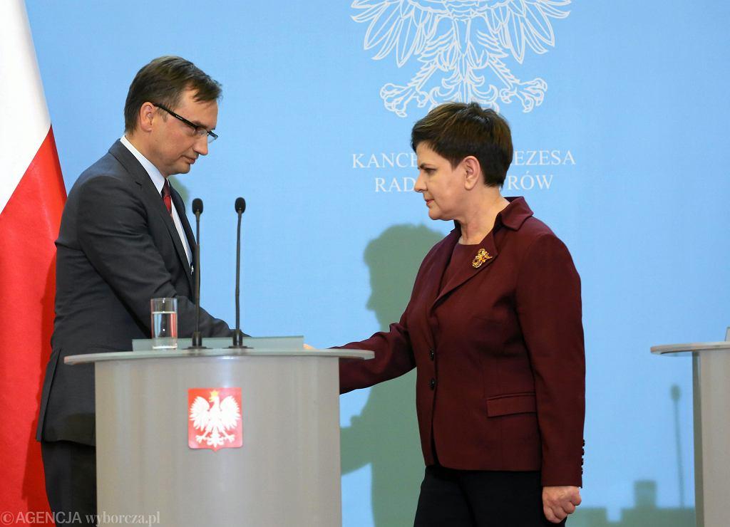Zbigniew Ziobro, Beata Szydło