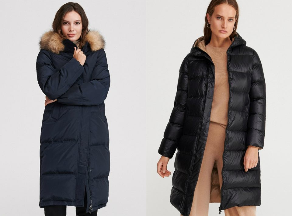 Płaszcze i zimowe kurtki z naturalnych puchem