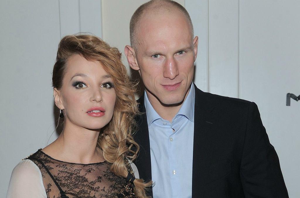 Krzysztof Włodarczyk z żoną