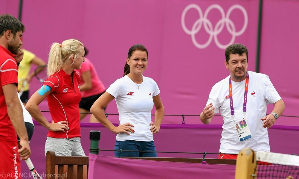 Od lewej: Tomasz Wiktorowski, Urszula Radwańska, Agnieszka Radwańska, Robert Radwański