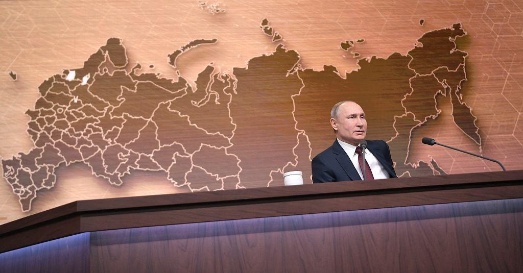 Władimir Putin na dorocznej konferencji prasowej w Moskwie, 18 grudnia 2019 r.