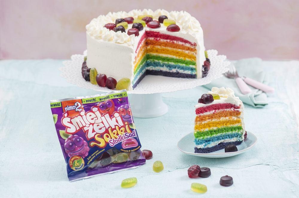 Śmiejżelki Sokki Słodki Sad - Rainbow cake