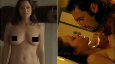Marion Cotillard w filmie 'Les fantomes d'Ismael' pokazała pełną nagość. Wybitna francuska aktorka nie waha się rozebrać, jeżeli wymaga tego scenariusz. I choć tym razem pokazała wszystko, to przecież na koncie ma więcej rozbieranych scen. Niektóre są tak ostre, że mogłyby się znaleźć w filmie pornograficznym.