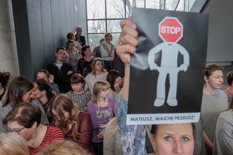 Protest pracowników sądów w Poznaniu