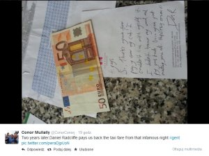 List od Daniela Radcliffe'a