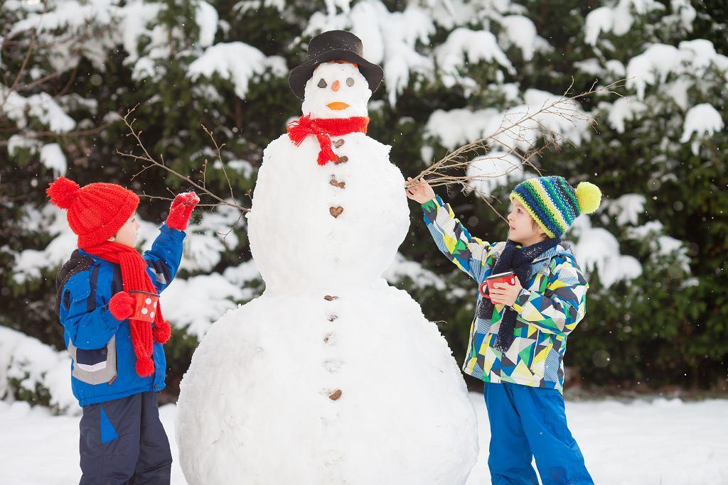 Warto wykorzystać wolny czas na aktywny wypoczynek na dworze. Idealnym zajęciem dla dzieci będzie wspólne budowanie bałwana.