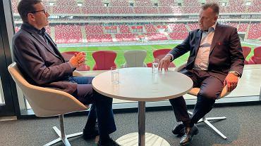 Prezes PZPN Cezary Kulesza i premier Mateusz Morawiecki