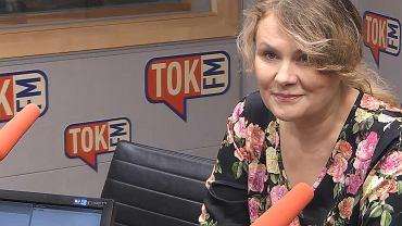 Katarzyna Piekarska w studiu TOK FM.