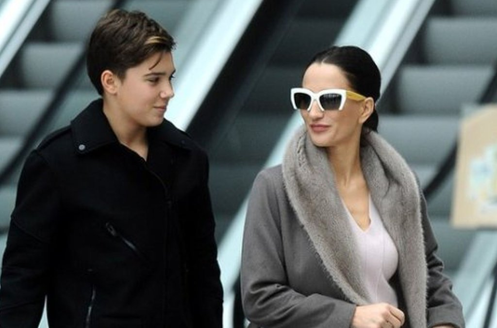 Justyna Steczkowska z synem, Leonem Myszkowskim