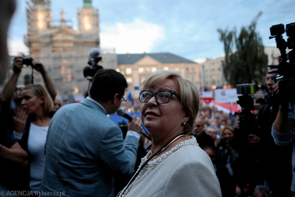 Protest w Warszawie w obronie Sadu Najwyższego, Warszawa 03.07.2018