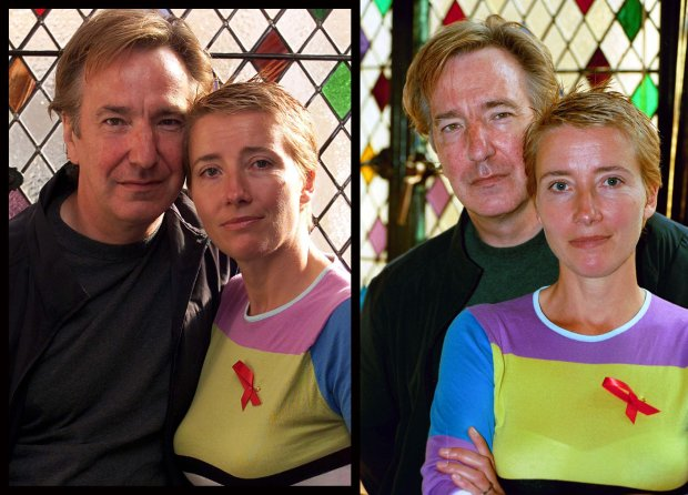 Ala Rickman i Emma Thompson w 2001