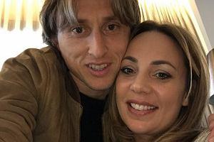 Luka Modrić z żoną Vanją