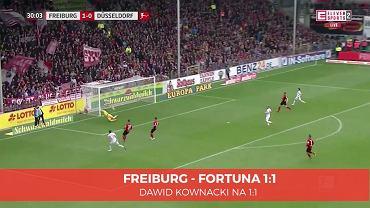 Dawid Kownacki w meczu z Freiburgiem