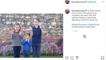 Dzieci księżnej Kate i księcia Williama dziękują lekarzom. Film poruszył internautów