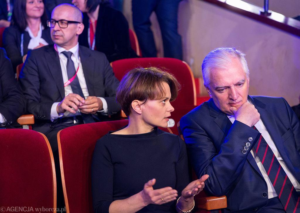 Minister Jadwiga Emilewicz i wicepremier Jarosław Gowin na Europejskim Kongresie Gospodarczym