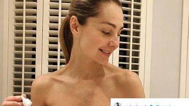 Małgorzata Socha bez makijażu apeluje: 'Podczas siedzenia w domu dbajmy o siebie'