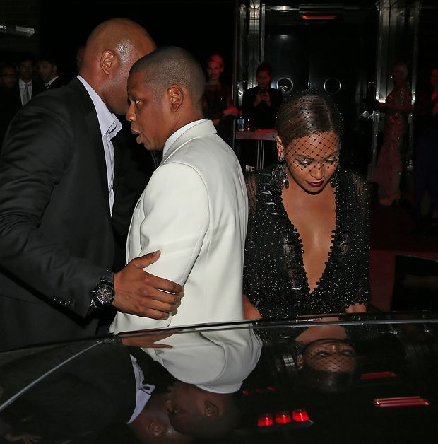 Jay-Z and Beyonce leave the after party for the 2014 MET Gala at the Boom Boom Room in New York City.  Pictured: Jay-Z and Beyonce Knowles