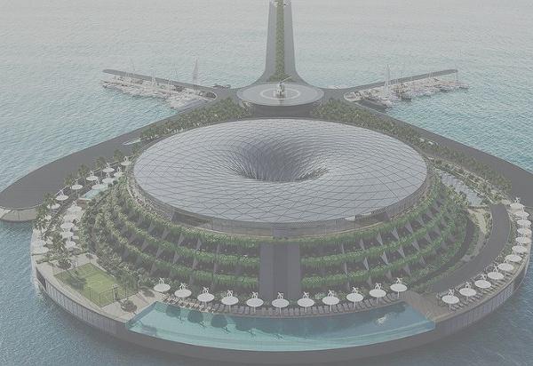 Pływający, ekologiczny hotel w Katarze