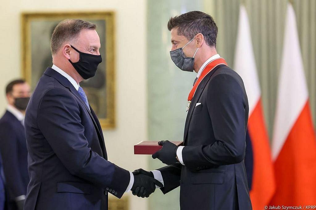 Robert Lewandowski, Andrzej Duda