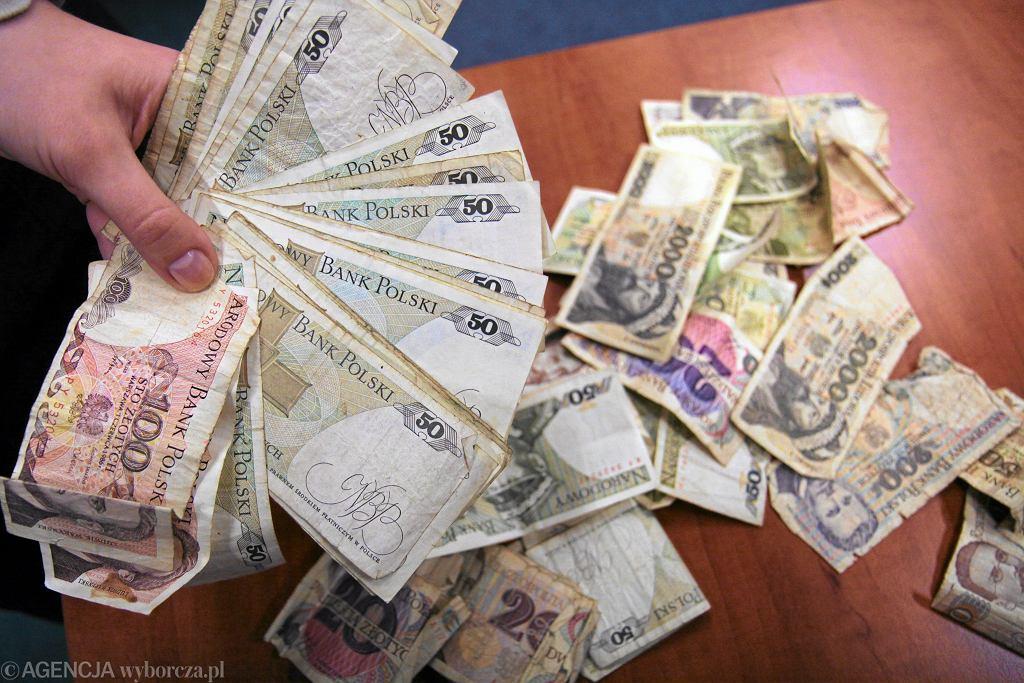 Złotówki sprzed denominacji.
