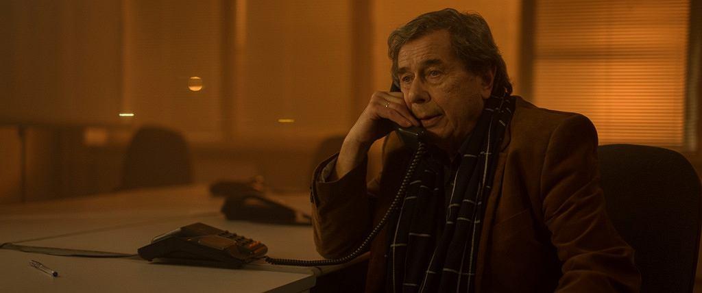 Janusz Gajos w filmie 'Solid Gold'. Film został wycofany z festiwalu w Gdyni, TVP wydało własne oświadczenie