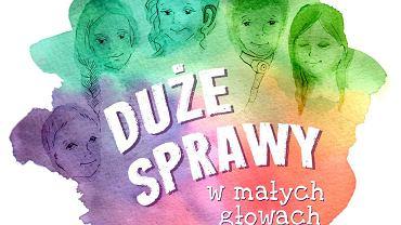 """""""Duże sprawy w małych głowach"""" to książka o niepełnosprawności dla dzieci. Autorką jest Agnieszka Kossowska."""