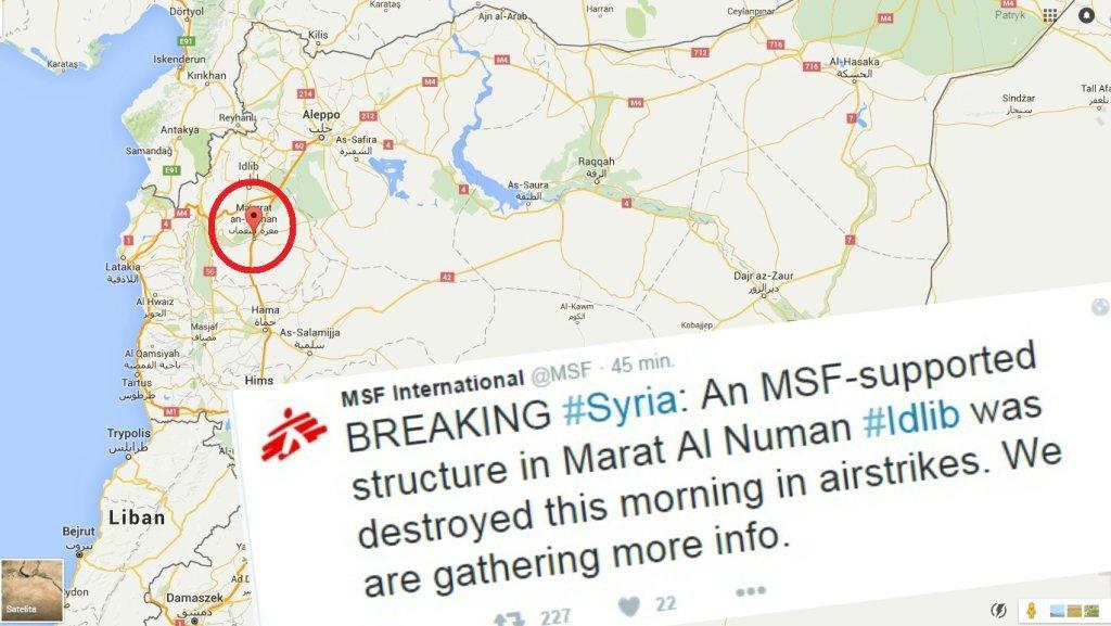 Placówka Lekarzy Bez Granic zniszczona na północy Syrii