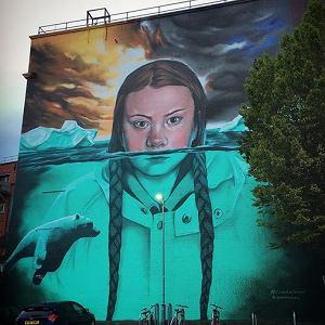 Mural Grety Thunberg w Bristolu