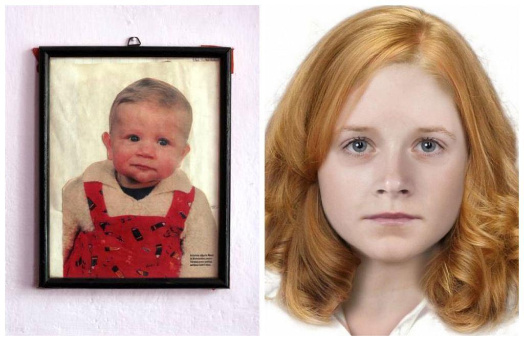 Zdjęcie Moniki wykonane do paszportu i progresja wiekowa zaginionej dziewczynki do 17 lat