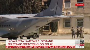 Wojskowa CASA czeka na Kajetana P.