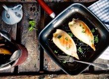 Kalmary faszerowane risottem z chorizo - ugotuj