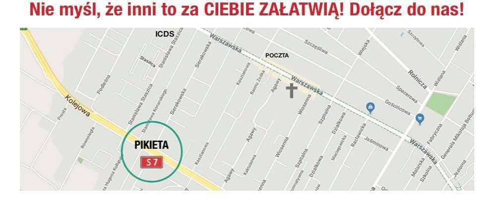 Protest w Łomiankach