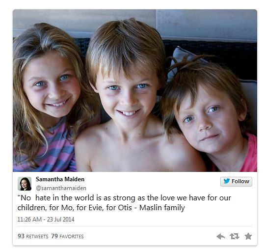 Zdjęcie trojga dzieci, które zginęły w samolocie malezyjskich linii lotniczych.
