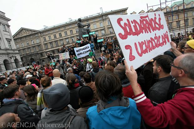 Manifestacja solidarności z uchodźcami  -