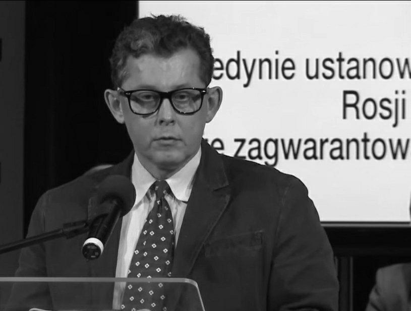 Azrael Kubacki (właśc. Jacek Gotlib) podczas debaty radia RDC, 2014 r.