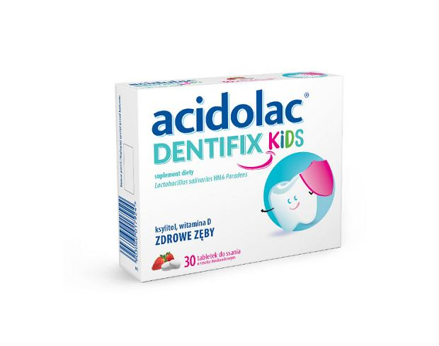 Acidolac DENTIFIX i Acidolac DENTIFIX KIDS. Nowość! Dla zdrowia małych i dużych zębów !