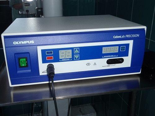 Aparat CELON firmy Olympus - używany do leczenia metodą RFITTH
