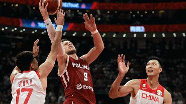 Mistrzostwa świata w koszykówce, Chiny 2019. Na zdjęciu Mateusz Ponitka, najlepszy gracz meczu