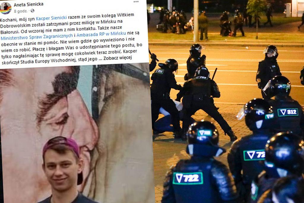 Apel matki studenta, który, jak nieoficjalnie informuje ambasada, został zatrzymany przez milicję w Mińsku