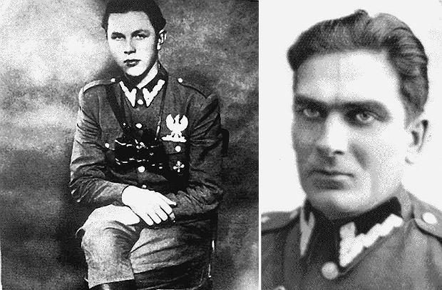 Tadeusz Zieliński 'Igła' (1927-48, zdjęcie z lewej), żołnierz Armii Krajowej, a po wojnie dowódca oddziału organizacji Wolność i Niezawisłość, który wchodził w skład zgrupowania majora Franciszka Jaskulskiego 'Zagończyka' (portret z prawej)