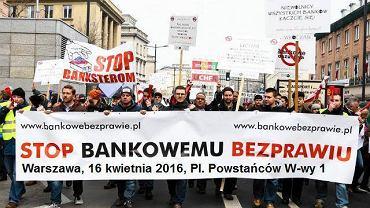 """Zapowiedź marszu """"Stop bankowemu bezprawiu"""" w Warszawie"""