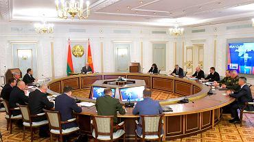 Mińsk, spotkanie białoruskiej Rady Bezpieczeństwa, 19 sierpnia 2020