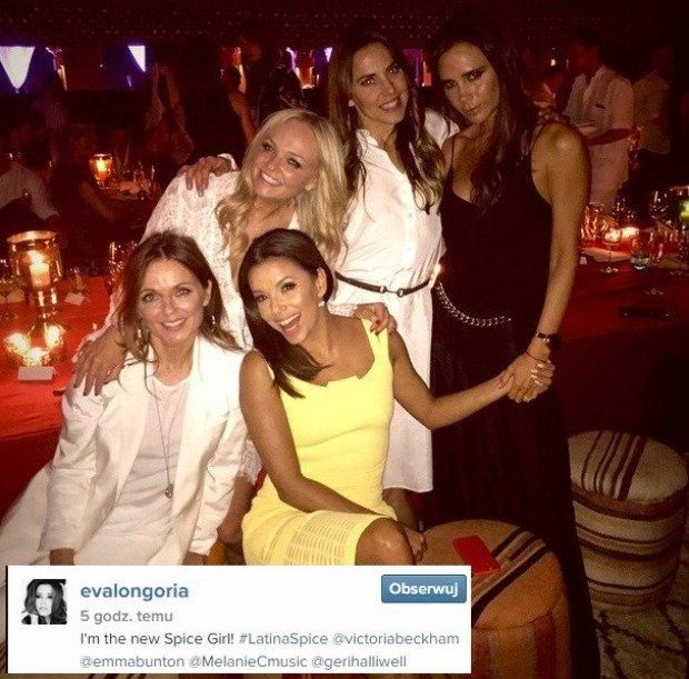 Eva Longoria z członkiniami zespołu 'Spice Girls'