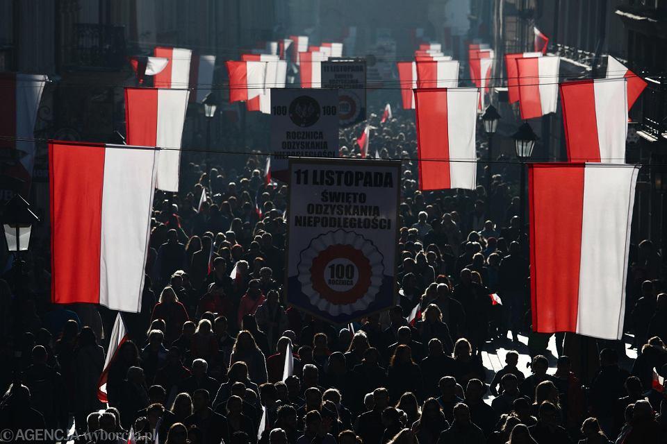 Marsz W święto Niepodległości Tłumy Na Trasie I Plakaty